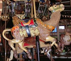 Coolidge Park Carousel Second Row Camel With Monkey Tucked Behind Saddle © Bette Sue Gray