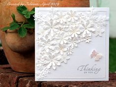 beautiful white card