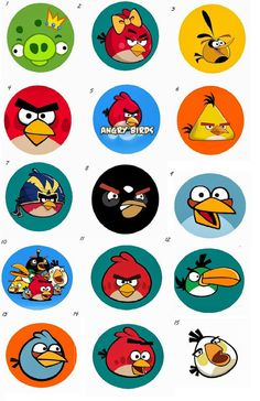 Angry Birds and Angry Birds Star Wars Edible Cake, Cupcake or Cookie Rice Paper Toppers, Made to Order, Various Sizes Available