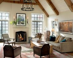 Modern Bright Interior with Simple and Modern Color Design: Fascinating Family Room Beige Sofa Vintage Tudor Remodel And Addition ~ WBTOURISM Home Interior Inspiration