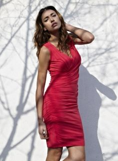 """Sleeveless Drape Dress by Isabella Oliver 