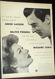 """Madame Curie (1943)  What a sweet, poignant movie. """"The really great men are always simple and good."""" ~ Pierre Curie played by Walter Pidgeon. A wonderful cast including; Greer Garson, Robert Walker, Margaret O'Brien and others!"""