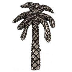 Premier Hardware Designs Catalina Large Palm Tree Novelty Knob Finish: Satin Nickel