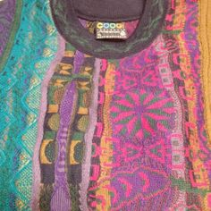 SOLD~ COOGI Australia Mens Sweater XL Multi-Colored Textured 100% Pure Wool LNWOT #Coogi #Crewneck