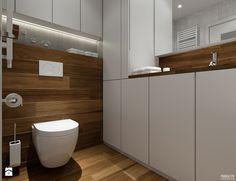Projekt mieszkania. Kraków Śródmieście - Średnia łazienka, styl nowoczesny - zdjęcie od PRØJEKTYW | Architektura Wnętrz & Design