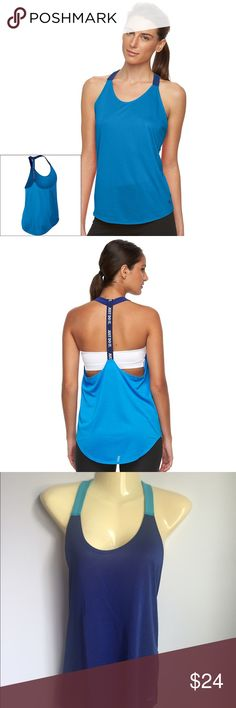 ☀️Women's Nike Elastika Racerback Running Tank s Nike performance tank. The breathable design and sweat-wicking Dri-FIT fabric ensure nonstop comfort.  PRODUCT FEATURES Perfect for medium-impact exercise Dri-FIT moisture-wicking technology Rounded, drop-tail hem Mesh shoulder straps Elastic racerback strap Scoopneck. Third and forth picture are actual top Nike Tops