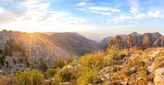 Take a peek at some of the tallest peaks in Texas. Pano of a golden sunrise in the Guadalupe Mountain range [oc][4095x2144]   landscape Nature Photos