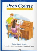 PALMER W.A./MANUS M./LETHCO A.V. - PREPCOURSE THEORY LEVEL E For the young beginner - € 9,50 Piano studie, Piano solo, ALFRED AP6297