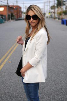 jacket, cupcak, white blazer, outfit, classic white