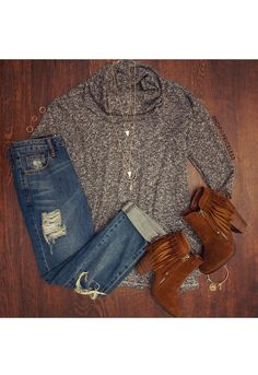 Cozy Up Babe Top
