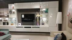 Ikea besta tv wall unit gloss white