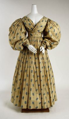 Dress (British) ca. 1829 cotton