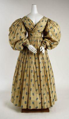 Dress (British) ca. 1829 cotton