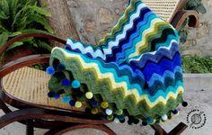 La manta de Charo (lana, ganchillo).
