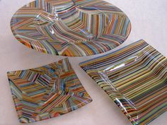 fused glass ware - cool!  want to learn how to do this!