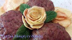 Μπιφτέκια Μπύρας Greek Recipes, Hummus, Steak, Ethnic Recipes, Food, Essen, Greek Food Recipes, Yemek, Steaks