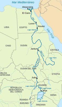 Recorrido Del Río Nilo Egipto Río Nilo Etiopía