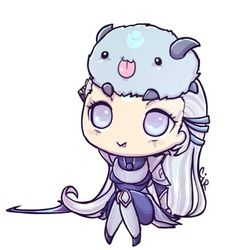 Chibi Diana With Poro <3