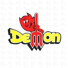 Old School Dodge Demon Logo SVG DXF Cut File