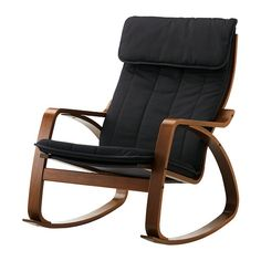 POÄNG Rocking chair - Alme black, medium brown - IKEA  I want this for my office, willing to get rid of my work table for it.