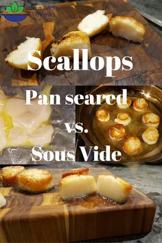 The perfectly cooked scallop: cooking technique battle. We test whether pan seared scallops or sous vide scallops are better.