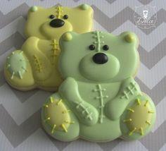 One Dozen 12 Baby Teddy Bear Decorated Sugar by DolceDesserts, $38.00