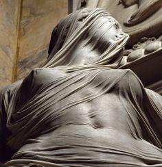 La Pudicizia (Modesty or Chastity) or Veiled Truth ~ By Antonio Corradini (1668-1752)