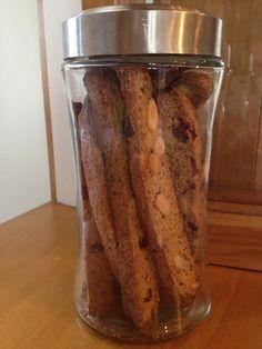 vegan almond pulp biscotti with cranberries, orange and almond
