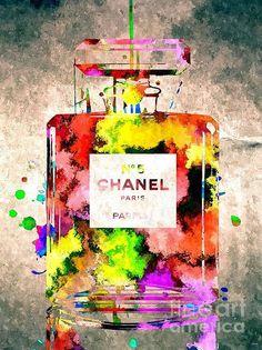 Chanel No 5 Grunge Poster
