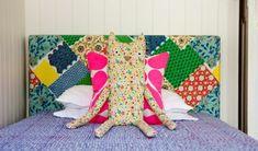 kreative deko und bastelideen flickwerk bett kopfteil