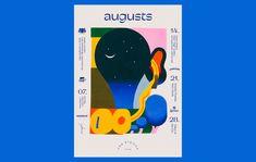 Poster for August concert programme 2019 at Fon Stricka Villa, Riga. Web Design, Book Design, Print Design, Layout Design, Graphic Design Posters, Typography Design, Poster Designs, Magazine Design, Wes Anderson Color Palette