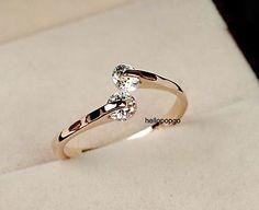 18K Rose Gold GP Swarovski Crystal Wedding Jewelry Elegant Ring FF185 - http://elegant.designerjewelrygalleria.com/swarovski/18k-rose-gold-gp-swarovski-crystal-wedding-jewelry-elegant-ring-ff185/