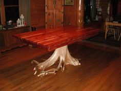 Red Cedar Dining Table - Sold - Will Build To Suit, Just Contact Me