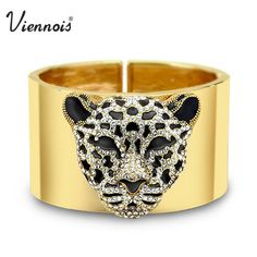 Viennois Rose Gold/Gold Plated Crystal Rhinestone Sexy Leopard Bracelet Bangle New Fashion Jewelry-in Bangles from Jewelry & Accessories on Aliexpress.com | Alibaba Group