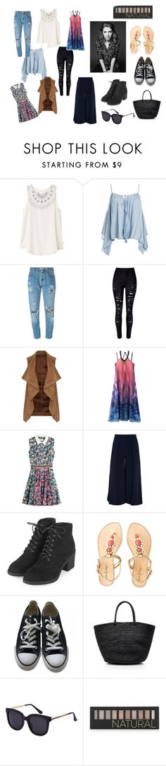 """ANNA KENDRICK"" by suwarnastyles ❤ liked on Polyvore featuring RVCA, Sans Souci, Levi's, WithChic, Dorothy Perkins, Mary Katrantzou, Roksanda, Topshop, Lilly Pulitzer and Converse"