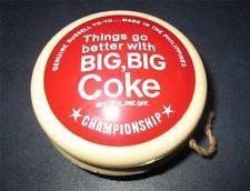 1960 COCA-COLA BIG BIG COKE GENUINE RUSSELL yoyo Championship Coke Philippines