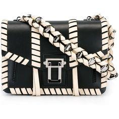 Proenza Schouler 'Hava' shoulder bag (8.985 RON) ❤ liked on Polyvore featuring bags, handbags, shoulder bags, black, locking purse, shoulder bag purse, handbag purse, proenza schouler and hand bags
