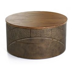 Table basse ronde table basse plateau bois table basse rustique