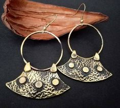 Tribal Earrings, Tribal Jewelry, Boho Jewelry, Dangle Earrings, Gold Necklace, Bronze Jewelry, Antique Jewelry, Boho Chic, Ethnic