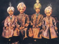 The four young sons of the Maharajah of Patiala