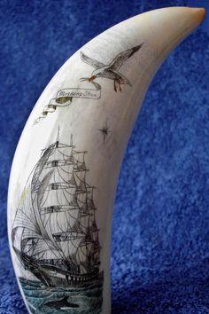 Captain Budd's Scrimshaw Art Pieces
