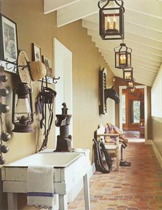 "Mudroom style corridor; ""Great Country French Style"""