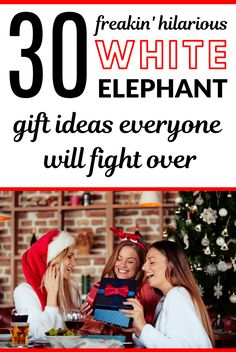 Are you searching for gift exchange ideas? White elephant ideas or yankee swap? Includes Christmas g Staff Christmas Party Ideas, Christmas Gift Games, Office Christmas Gifts, Creative Christmas Gifts, Christmas Gifts For Coworkers, Inexpensive Christmas Gifts, Gifts For Office, Funny Christmas, Christmas 2019
