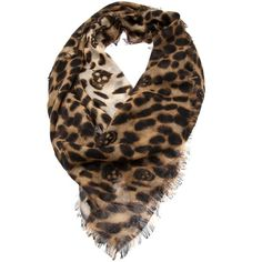 ALEXANDER MCQUEEN Leopard skull scarf ($760) ❤ liked on Polyvore