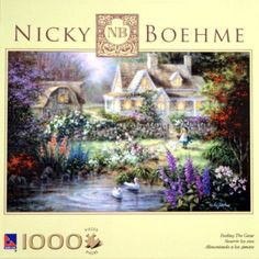 Nicky Boehme Feeding The Geese 1000 Piece PUZZLE by The Canadian Group, http://www.amazon.com/dp/B003YZAAIU/ref=cm_sw_r_pi_dp_drcgrb0XA8CKV