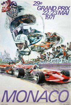 1971 Monaco Grand Prix poster