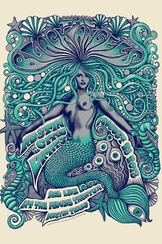 Artist - Misha Wiskell.  The Black Angels | Austin City Limits | 40 Stunningly Beautiful Concert Posters