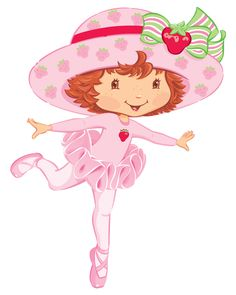 Strawberry Shortcake Ballerina - Full Kit with frames for invitations, labels for snacks, souvenirs and pictures!