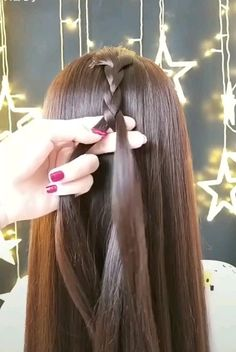 hacks videos Beautiful Hair Style Tips👌 Easy Hairstyles For Long Hair, Girl Hairstyles, Side Braid Hairstyles, Princess Hairstyles, Braided Hairstyles Tutorials, Indian Hairstyles, Hair Tutorials, Medium Hair Styles, Braid Hairstyles