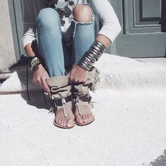 Boho sandals by Layer Boots